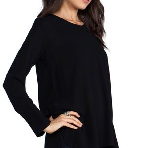 JAMES PERSE Revolve Black Long-sleeve Top